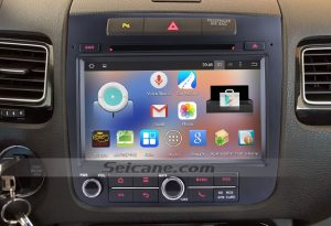 2010-2014 VW Volkswagen TOUAREG Stereo Radio after installation