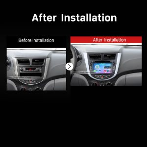 2011 2012 2013 Hyundai Verna Accent Solaris Car Stereo after installation