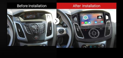 2011 Ford C Max Head unit after installation