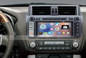 2014 Toyota Prado Radio after installation