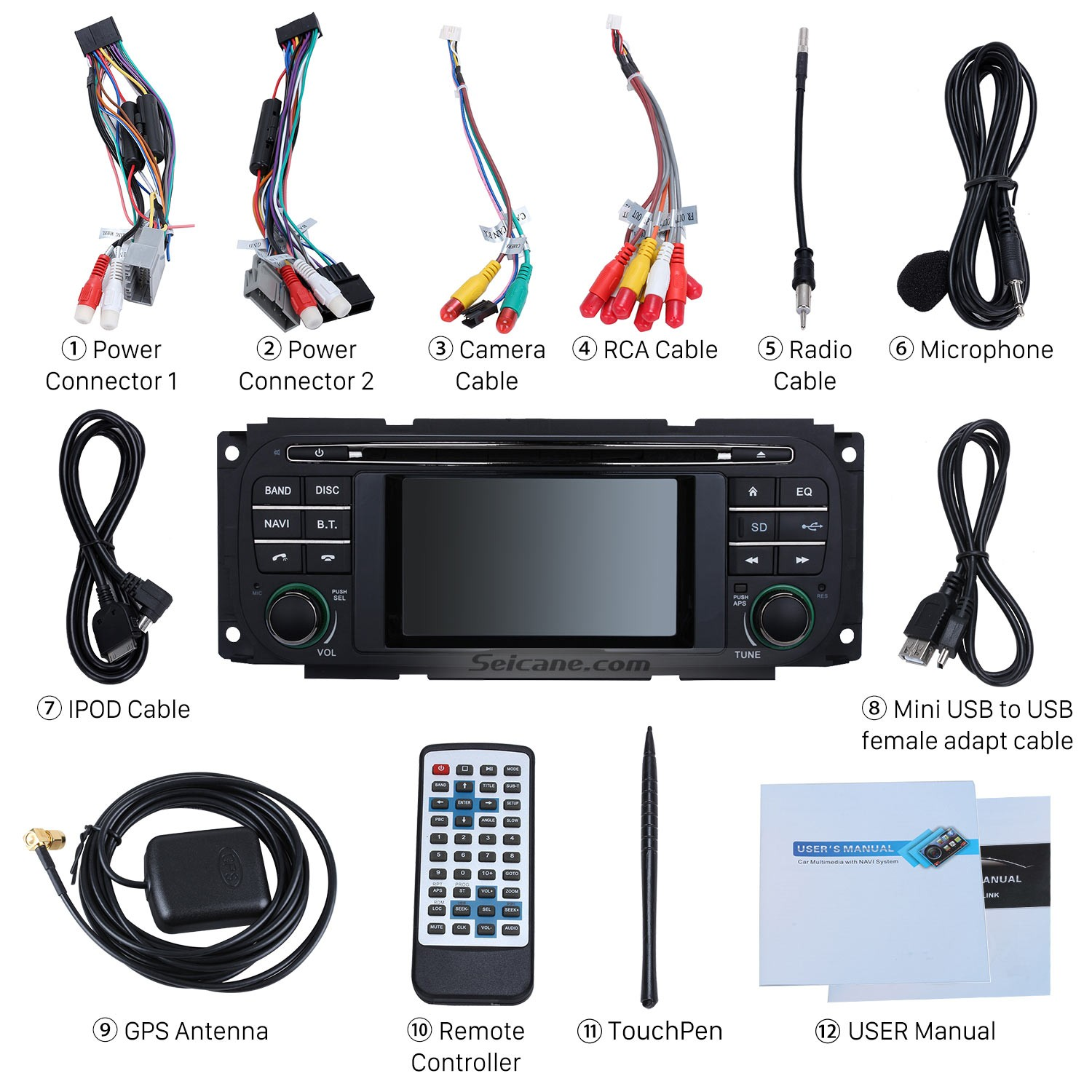 How to upgrade a 1999 2004 jeep grand cherokee gps bluetooth radio check all the accessories for the new seicane car radio publicscrutiny Image collections