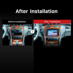 2002 2003 2004 2005 Mercedes Benz Vaneo Radio after installation