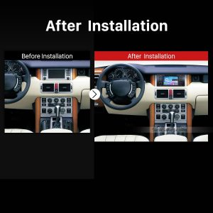 2002 2003 2004 Range Rover Car Radio after installation