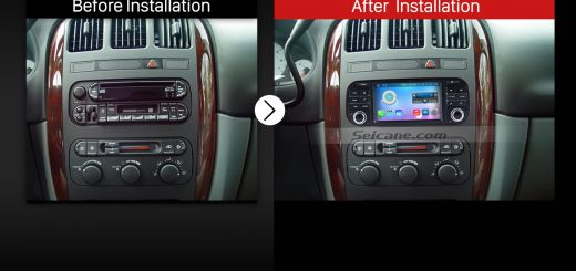 2002-2006 Dodge Ram pick-up Car Radio after installation