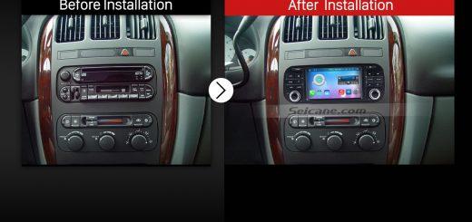 2002-2006 Dodge Ram pick-up Car Radio after installation