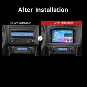 2003-2011 VW Volkswagen Scirocco Golf Polo Passat Jetta Tiguan car stereo after installation