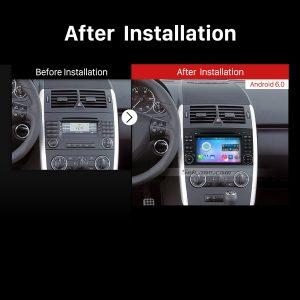 2004-2012 Mercedes Benz B W245 B150 B160 B170 B180 B200 B55 Car Radio after installation