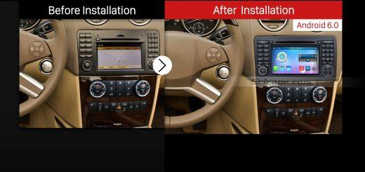 2005-2012 Mercedes Benz ML Class W164 ML280 ML300 ML320 ML350 ML420 ML450 ML500 ML550 ML63 Car Stereo after installation