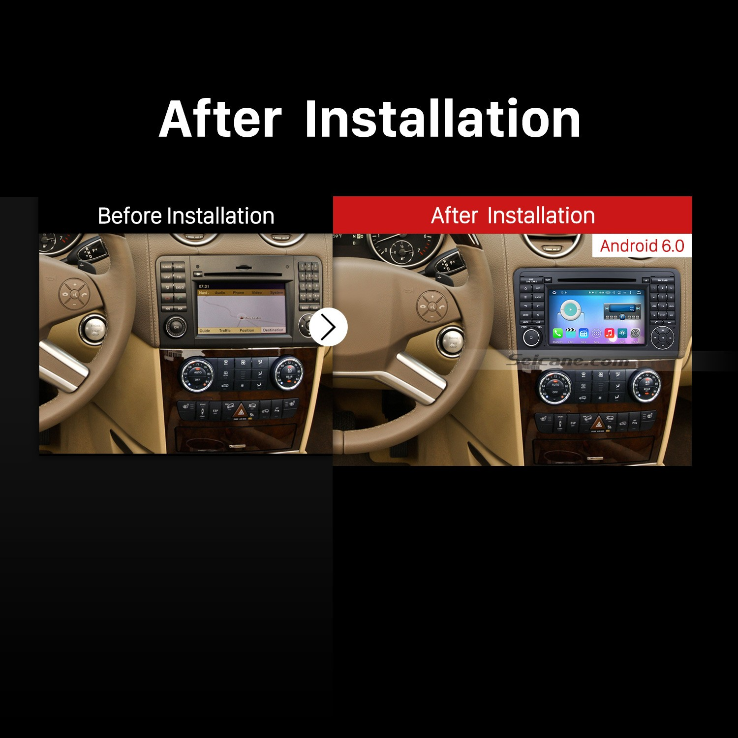How to replace a 2005 2012 mercedes benz ml class w164 for Mercedes benz stereo installation