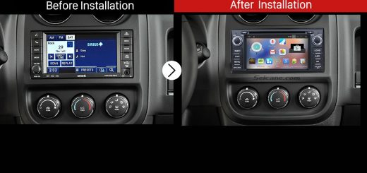 2009 2010 2011 Jeep Compass Touch Screen Radio Stereo after installation