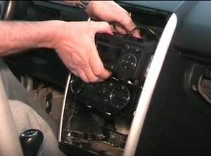 Take out the original car radio