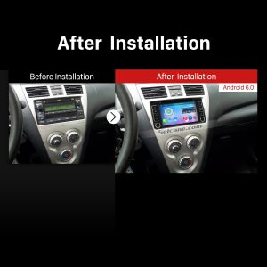 2001-2011 TOYOTA HILUX Car Stereo after installation
