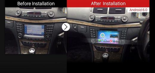 2002-2008 Mercedes Benz E W211 E200 E220 E230 E240 E270 E280 E300 E320 E350 E420 car radio after installation