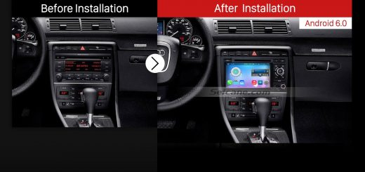 2003-2011 Audi A4 S4 RS4 Car Radio after installation