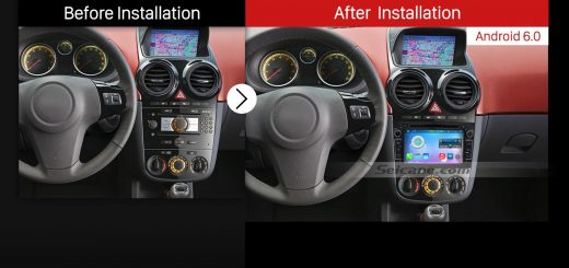 2006-2011 Opel Corsa Car Radio after installation