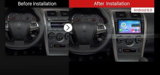 2006-2012 Toyota Corolla Car Radio after installation