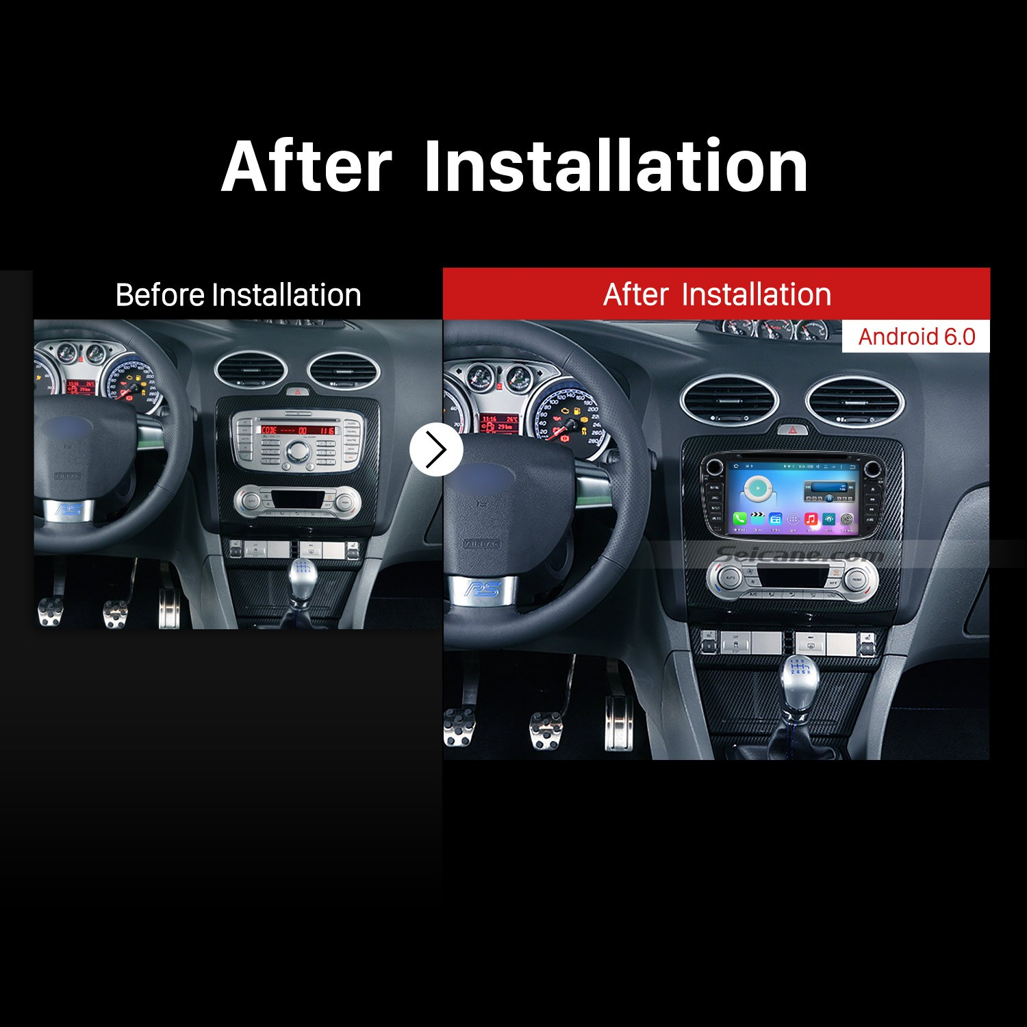 2008 2009 2010 2017 Ford Focus Car Radio After Installation