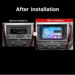 2008-2013 SUBARU Forester XV Impreza GPS Bluetooth Car Stereo after installation