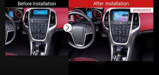 2010 2011 2012 2013 Vauxhall Astra Factory Radio after installation