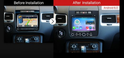2014 VW Volkswagen TOUAREG Car Stereo after installation