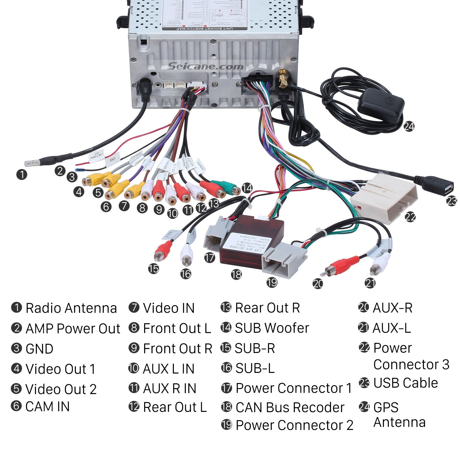 2010 Ford Focus Radio Wiring Diagram 36 Images F 150 Color Codes Connect The Harnesses To Back Of New Seicane Car 2004