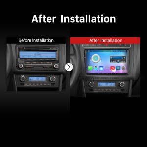 2004 2005 2006 2007 2008 -2013 Skoda FABIA Car Radio after installation