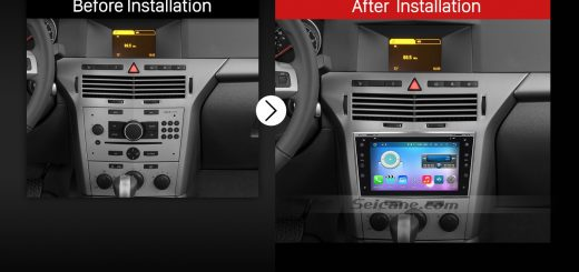 2005 2006 2007 2008 2009-2011 OPEL Zafira Car Radio after installation