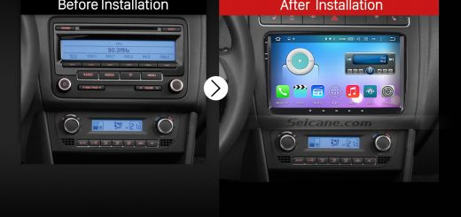 2010 2011 2012 2013 VW Volkswagen Sharan car radio after installation