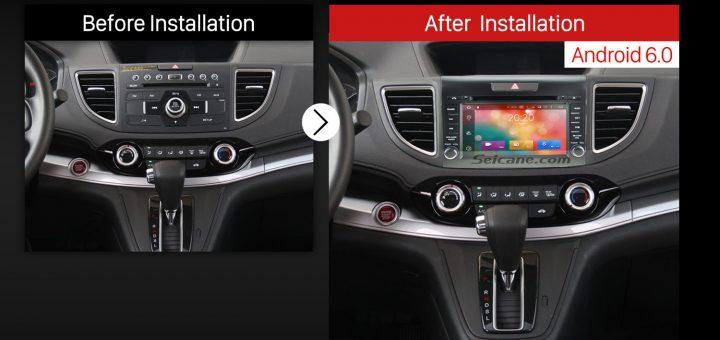 2012 2013 2014 Honda CR-V Car Stereo after installation