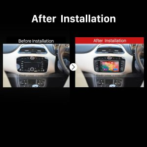 2013 2014 FIAT LINEA Car Radio after installation