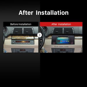 2000 2001 2002 2003 2004-2007 BMW X5 E53 3.0i 3.0d 4.4i 4.6is 4.8is Bluetooth DVD Car Radio after installation