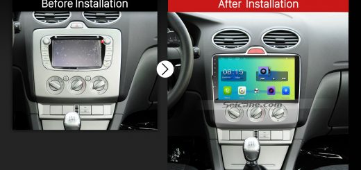 2004 2005 2006 2007 2008-2011 Ford Focus Exi MT Car Radio after installation