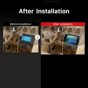 2006 2007 2008 2009 2010-2012 Mercedes Benz R Class W219 GPS Bluetooth Car Radio after installation