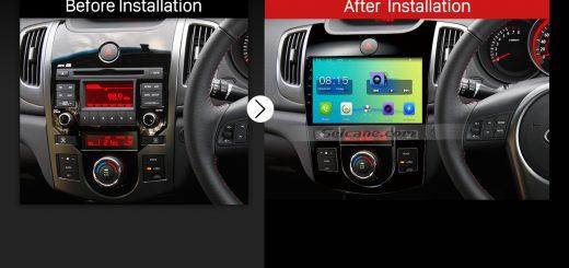2008 2009 2010 2011 2012 KIA Forte(MT) Bluetooth GPS Car Radio after installation