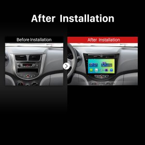 2009 2010 2011 2012 2013-2015 Hyundai Verna Car Radio after installation