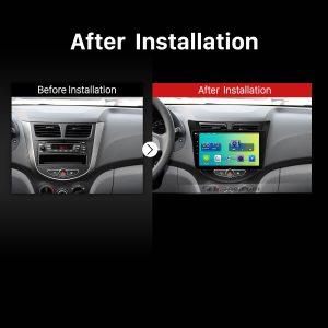 2009 2010 2011 2012 2013-2015 Hyundai Verna Car Radio after installation
