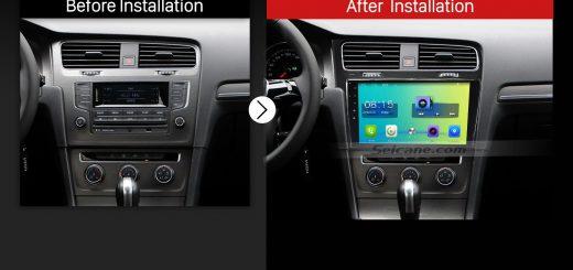 2013 2014 2015 VW Volkswagen Golf 7 Car Radio after installation
