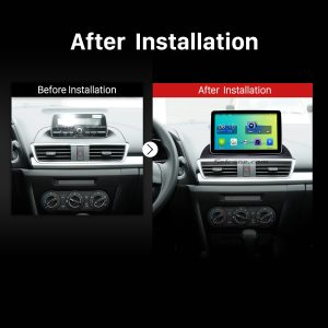 2014 Mazda 3 Encore Low Version Bluetooth GPS Car Radio after installation