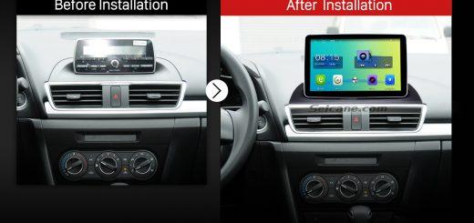 2014 Mazda 3 Encore Low Version Bluetooth GPS Car Radio after installation