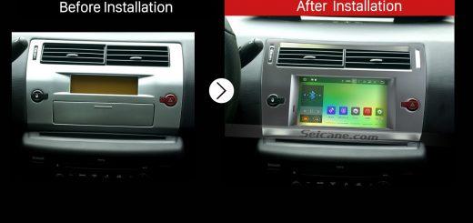 2004 2005 2006 2007 2008-2012 CITROEN C4GPS Bluetooth Car Radio after installation