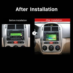 2005 2006 2007 2008 2009 Kia Cerato Car Radio after installation