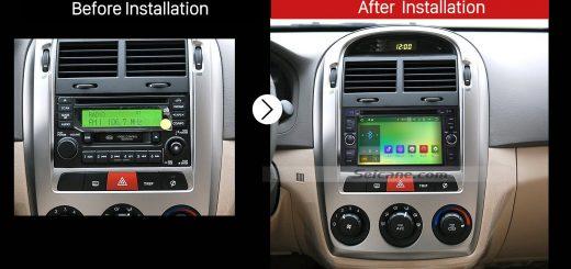 2005 2006 2007 2008 2009 Kia CeratoCar Radio after installation