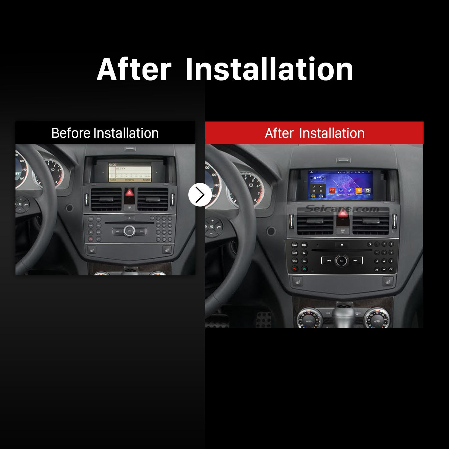 How to upgrade a 2007 2008 2009 2010 2011 mercedes benz c for Mercedes benz stereo
