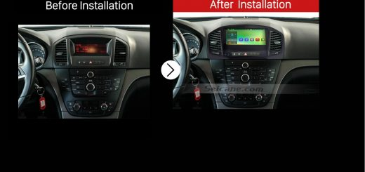 2008 2009 2010 2011 2012-2013 OPEL Insignia Buick Regal Car Radio after installation