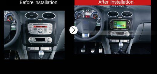 2008 2009 2010 2011 Ford FocusGPS Bluetooth DVD Car Radio after installation