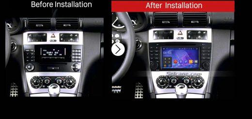 2008 2009 2010 Mercedes Benz CLC W203 CLC250 CLC230 CLC160 Car Radio after installation