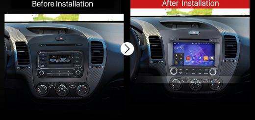 2013 2014 Kia Cerato Left Car Radio after installation