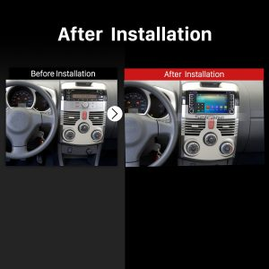 2 Din Universal car radio after installation