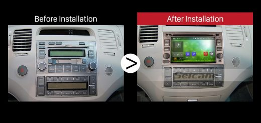 2005 2006 2007 2008 2009-2011 HYUNDAI AZERA Car Radio after installation
