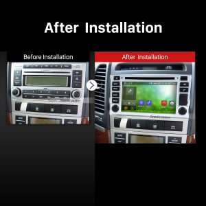 2006 2007 2008 2009 2010-2012 HYUNDAI SANTA FE Car Radio after installation